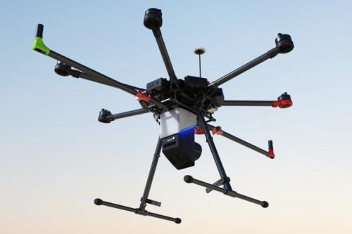 DJIのMatrice600 Proに搭載したレーザー計測システム(以下の写真、資料:FLIGHTS)