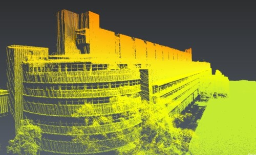 「NextCore RN50」で計測した建物の点群データ