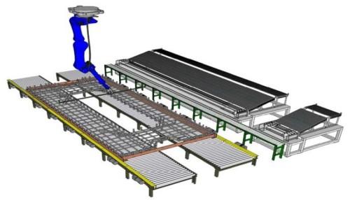 鉄筋組み立て自動化システム「Robotaras」のイメージ。作業員は鉄筋と結束ワイヤをロボットに供給するだけでよくなる