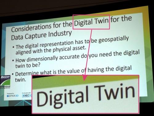 初日の講演で飛び出したバズワードその1「デジタルツイン(Digital Twin)」