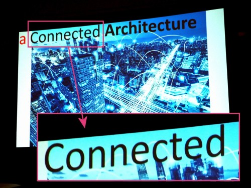 バズワードその2「コネクテッド・アーキテクチュア」のイメージ図