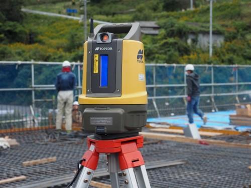 トプコンの墨出し用測量機「LN-100」(写真:家入龍太)