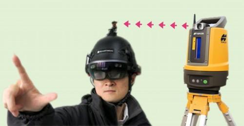 HoloLensとLN-100の連携イメージ(資料:インフォマティクスの資料をもとに当サイトが作成)