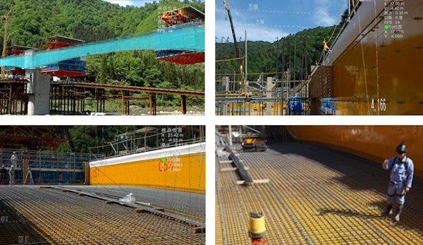 福井県大野市の橋梁建設現場で行われた実証実験