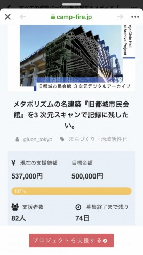 6月2日、午後5時ごろには、すでに目標額の50万円をクリアしていた