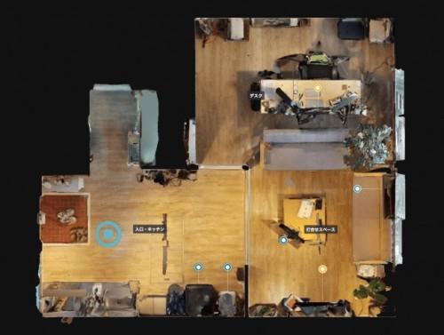 建物全体の床面を平面図的に見た例