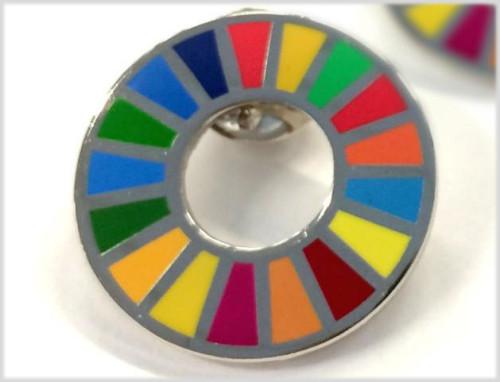 SDGsの17項目を象徴するバッジ(写真:UNDP SHOP)
