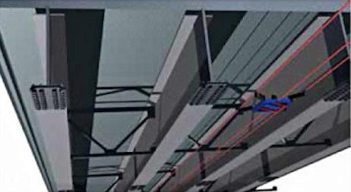 橋桁下での使用イメージ(資料:イクシス)