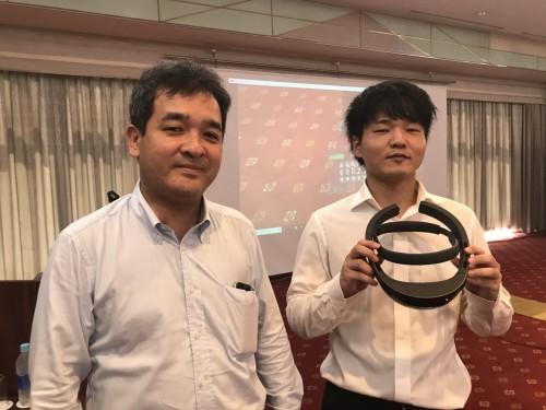 実習を行ったオフィスケイワンの保田敬一代表取締役(左)と臼井政人氏(右)