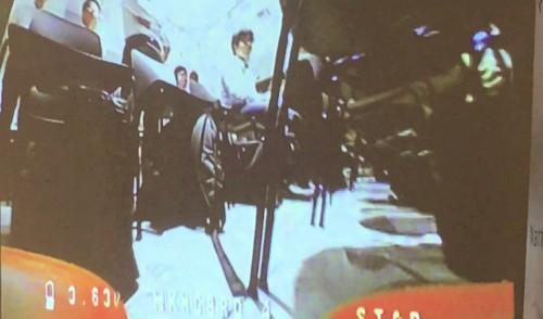ドローン搭載カメラからの映像