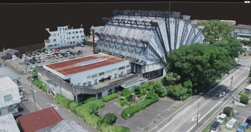 寄付金額に関係なく配布されているAR版「都城市民会館」のイメージ(特記以外の資料:藤原龍氏)