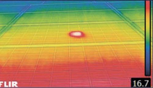 赤外線カメラによる異常の発見例