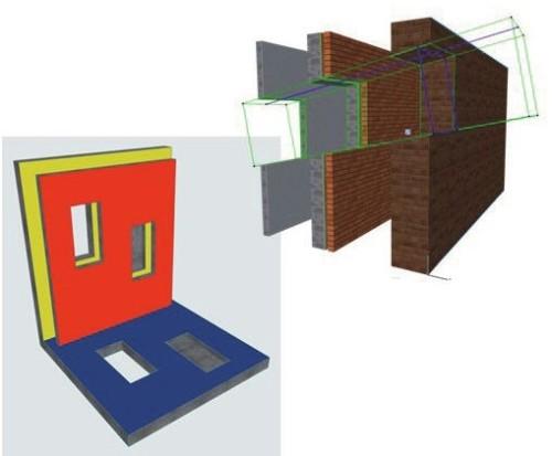 開口ツールのイメージ。複数の部材をまとめて貫通穴が開けられる