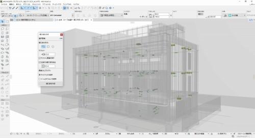 貫通穴の位置や大きさなどをBIMモデル化してIFC形式で書き出す