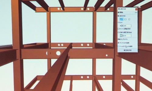 構造設計者はそのIFCデータを鉄骨のBIMモデルに読み込み、貫通穴を作成する