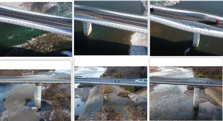 橋梁をいろいろな角度から撮影した写真(以下の写真、資料:日立システムズ)