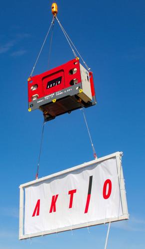 吊り荷の向きを遠隔操作するジャイロマスター