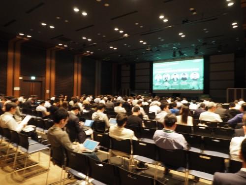 東京・半蔵門で開催された「PROPTECH STARTUP CONFERENCE 2019」のセミナー会場(以下の写真:家入龍太)