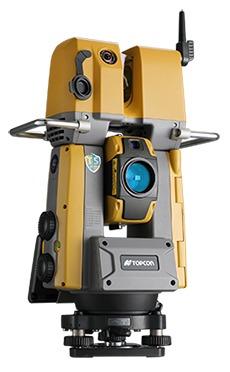 3Dレーザースキャナーとトータルステーションを合体させた「GTL-1000」(以下の写真、資料:トプコン)