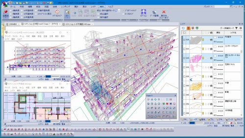BIMっぽく進化したDRA-CAD18の画面(資料:建築ピポット)