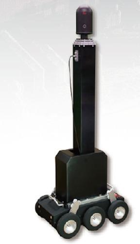 地上型3Dレーザースキャナーを昇降させるロボット「VAN-BO」(以下の写真、資料:特記以外はイクシス)