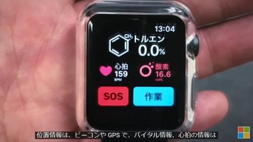 従業員の心拍数などを計測するエッジデバイス