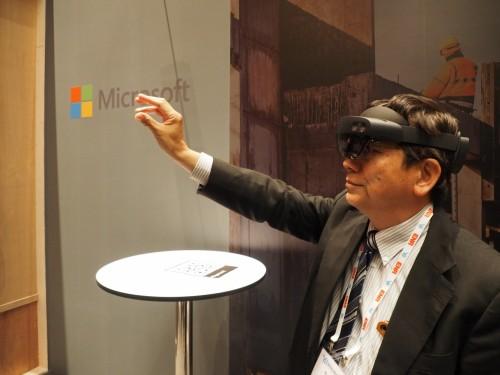 HoloLens2を実際に着用したイエイリ