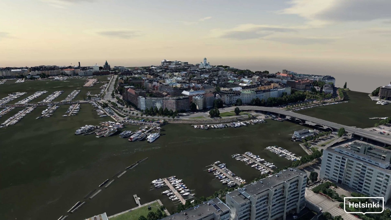 フィンランドの首都ヘルシンキのデジタルツイン(資料:Courtesy of City of Helsinki)