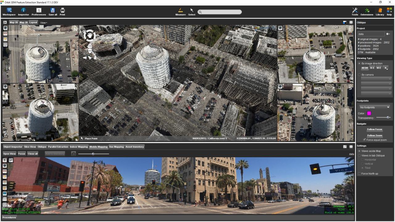 オービットGTの技術で作成した都市の3Dモデル(資料:Courtesy of Orbit GT)