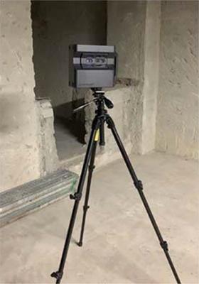 既存建物の3Dモデル化に使う米国マーターポート社製の3D赤外線カメラ(特記以外の写真、資料:大成建設)