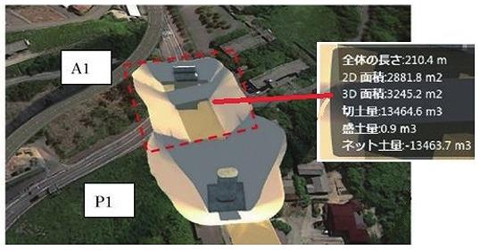橋脚の数量計算イメージ