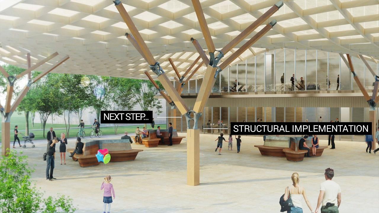 継ぎ手を使用した建物の完成イメージ