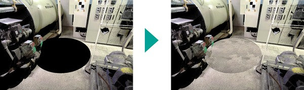 3Dレーザースキャナー直下の穴を埋めたところ