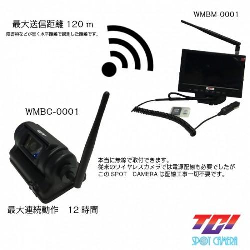 カメラとモニター間は電波で映像や映像を送る
