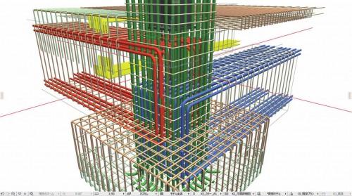 「smartCON Planner R」で作成したARCHICAD用の配筋モデル(以下の資料:グローバルBIM)