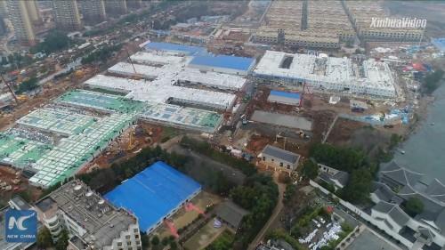 わずか10日間で完成した中国・武漢市の病院(以下の資料:New ChinaのYouTube動画より)