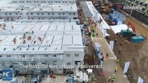 2月2日。完成した病院が正式に引き渡される