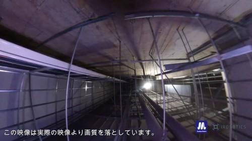 天井板の裏側には、電線や配管、吊り下げ部材などが密集している(写真:アイ・ロボティクス)