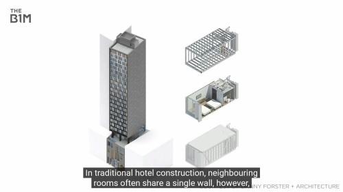 建物の各部屋はモジュールに分割されている