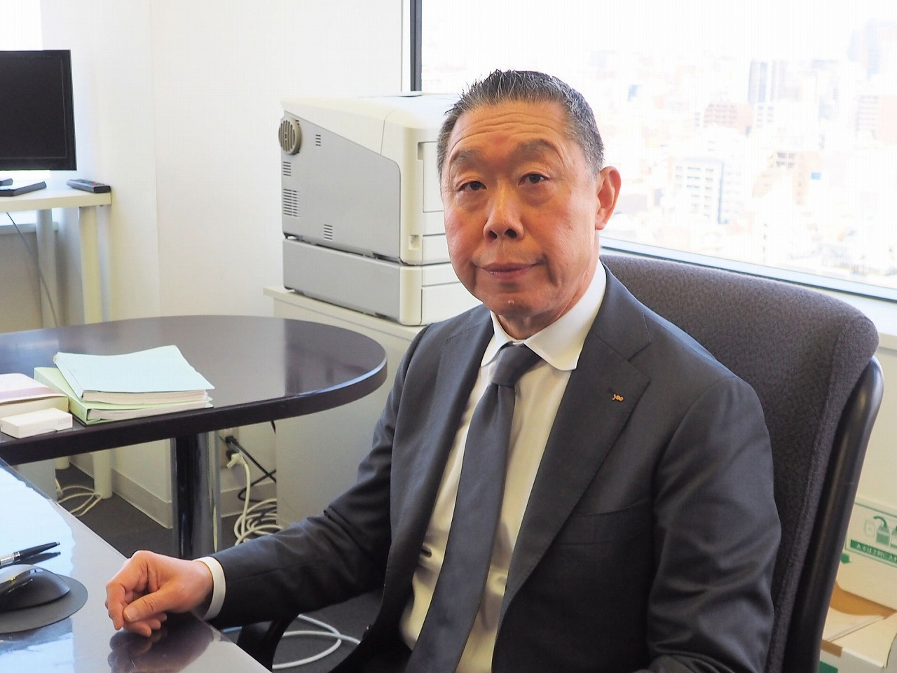 ダム技術者出身の八千代エンジニヤリング代表取締役社長、出水重光氏(写真:家入龍太)