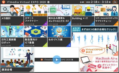 「ITmedia Virtual EXPO 2020 春」の全体構成(以下の資料:アイティメディア)