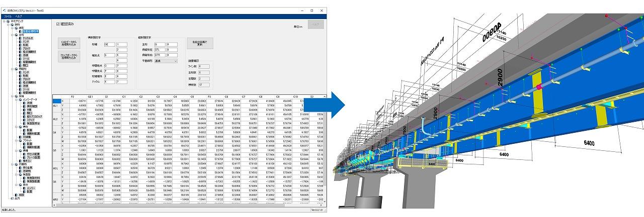 表形式のデータをCIMモデルに変換する「鋼橋CIMシステム」