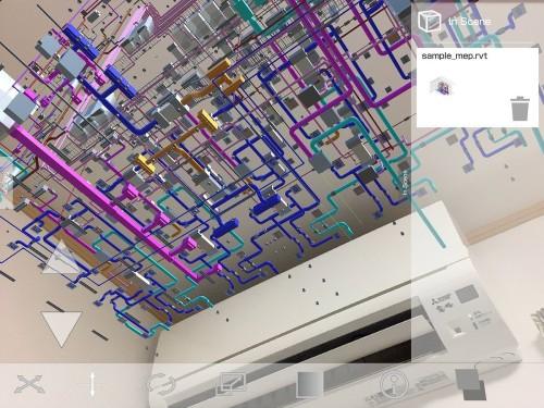 無数の部材からなる設備BIMモデルもこの通り(資料:中村薫氏のツイッターより)