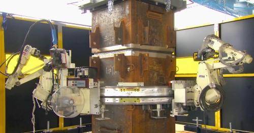 作業場所に設置されたロボット