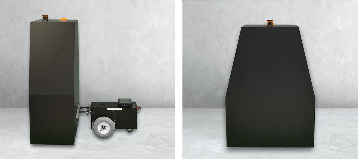 「自律走行式ひび割れ検査ロボット」の外観(以下の写真、資料:イクシス)