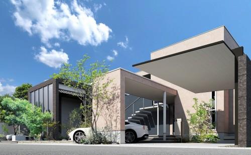 エクステリア造園CAD「O7CAD」で作成したCGパース(以下の資料:オーセブン)