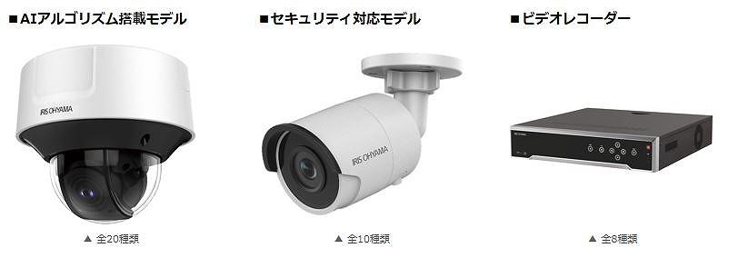 アイリスオーヤマが発売するAIカメラ関連製品(以下の写真、資料:アイリスオーヤマ)