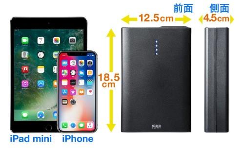 モバイルバッテリーの大きさ