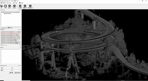 MMSにより計測された河津七滝ループ橋の点群データ