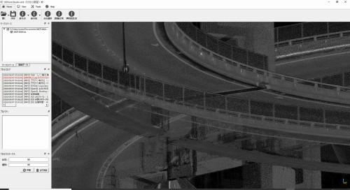 点群データを拡大すると、橋の詳細構造までくっきりと表れた